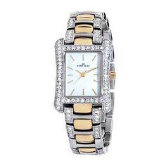 Anne Klein Women's 108931MPTT Swarovski Crystal Accented Two-Tone Dress Watch (Watch)