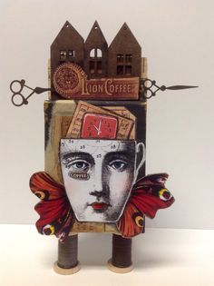 Artist Trading Block e Coffee Art  by Kim Collister