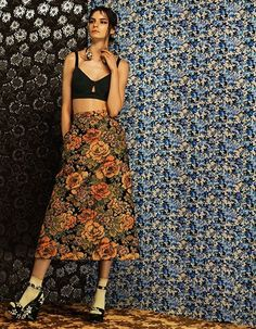 THE HOT HOUSE Spring's full throttle florals will set temperatures soaring..
