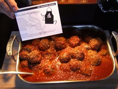 @Chicago White Sox Italian Meatballs with Tomato Sauce