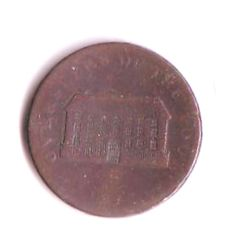 One Penny Token Coin 1813 Worn but some detail on both sides