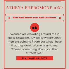 Read more about what Athena Pheromones can do for you at http://www.athenainstitute.com/10Xtestimonials.html … #pheromones #dating #sex