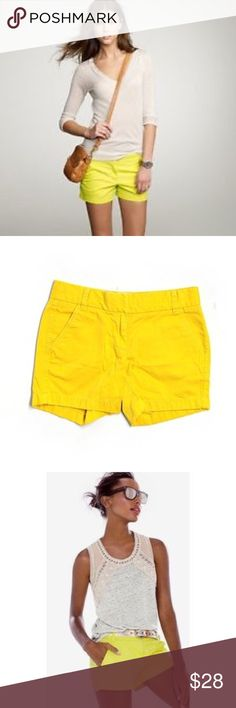 """NWT Jcrew butter yellow shorts with 5 inch inseam. JCrew """"Buttery Twill City Fit."""" 5"""" inseam You cannot have too many colors of these fabulous shorts! I am absolutely addicted to them and I'm afraid to say how many I have! Selling this yellow because yes, I already have it! New with tags comfy as always perfect addition to closet! J. Crew Shorts"""