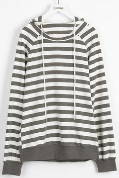 Another morning jogging look-$24.99 Only with 7 Days shipping Now! This striped hoodie detailed with long drawstring&high neck gonna brighten your day. Can't wait to get it at Cupshe.com !