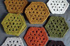 Hexagon Crochet Pattern Crochet Hexagon Blanket Getting Started Loop Knits Hexagon Crochet Pattern, Crochet Hexagon Blanket, Crochet Blocks, Crochet Squares, Crochet Patterns, Free Pattern, Crochet Afghans, Crochet Motifs, Crochet Granny