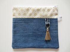 Etsy - Shop for handmade, vintage, custom, and unique gifts for everyone Sac Vanessa Bruno, Fabric Paint Designs, Saree Blouse Neck Designs, Denim Handbags, Denim Crafts, Diy Couture, Denim Bag, Zipper Pouch, Cosmetic Bag