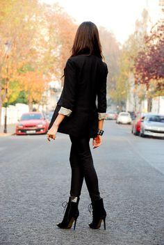 black & brunette