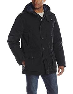 Tommy Hilfiger Men's Poly-Twill Long Hooded Parka, Black, Small Tommy Hilfiger http://www.amazon.com/dp/B00JBXOQR0/ref=cm_sw_r_pi_dp_2jLwub0QQAF2A