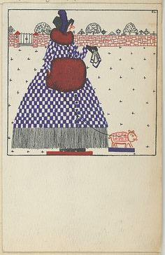 Month of November (1912) by Fritzi Löw (1891—1975 ). Published by        Wiener Werkstätte.Image and text courtesy The Metropolitan Museum of Art.