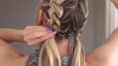 Пучки с плетением Vintage Hairstyles, Braided Hairstyles, Wedding Hairstyles, Girls Updo, Hair Upstyles, Long Hair Wedding Styles, Hair Videos, Bridesmaid Hair, Gorgeous Hair