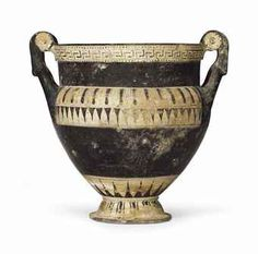 A laconian pottery column-krater