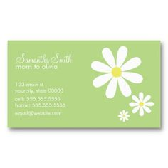 Daisies on Green Business Card