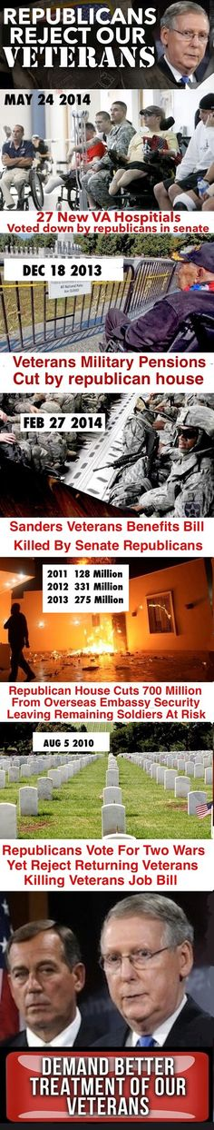 They're willing to bankrupt the country for their military contractor overlords, but screw the service members. Veterans need to vote, too.