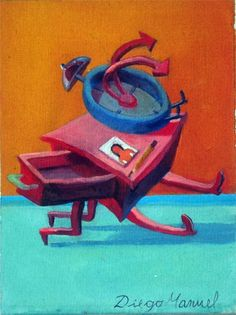 reloj . Painting of the Serie Surrealism for sale by artist Diego Manuel