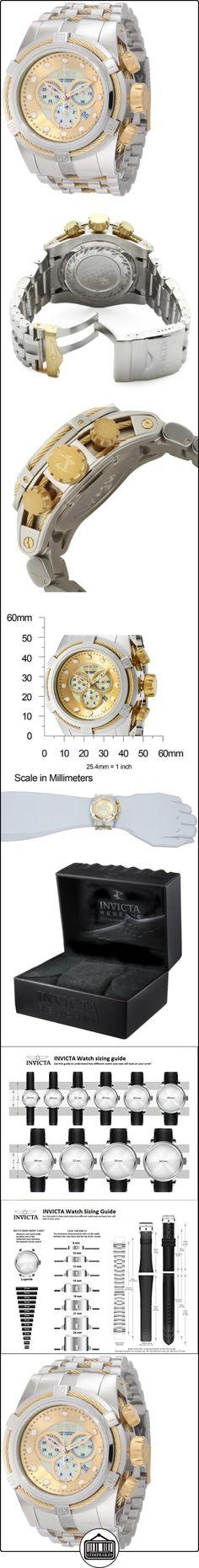 """Invicta """"0822"""" - Reloj cronógrafo de cuarzo para hombre con correa de acero inoxidable, color plateado  ✿ Relojes para hombre - (Lujo) ✿"""