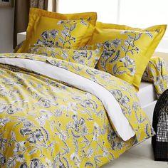 Parure de lit Botanic Soleil (Soleil) - Homemaison : vente en ligne parures de lit Comforters, Blanket, Flamboyant, Bed, Furniture, France, Color, Texture, Home Decor