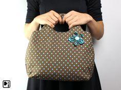 Handtasche Rockabilly, Polka Dots von BELAINE Manufaktur.