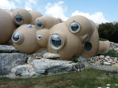 Palais Bulles, Cannes, France, a 28 bedroom, bubble-shaped house by architect Antti Lovag.