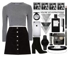 """""""Black & Grey"""" by catarinahoran21 ❤ liked on Polyvore featuring Miss Selfridge, Glamorous, Gianvito Rossi, CLUSE, Aesop, Chantecaille, Giorgio Armani, Van Cleef & Arpels, NARS Cosmetics and Polaroid"""