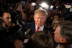 Donald Trump: FILE- In this Aug. 6, 2015, file photo, Republican presidential candidate Donald Trump speaks to the media in the spin room after the first Republican presidential debate at the Quicken Loans Arena in Cleveland. Trump is showing no signs of curbing his battle with a Fox News television host, the Republican Party establishment and several presidential primary rivals who are accusing him of disrespecting women.
