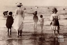 Family at the Beach, 1890 Photographic Print at Art.com
