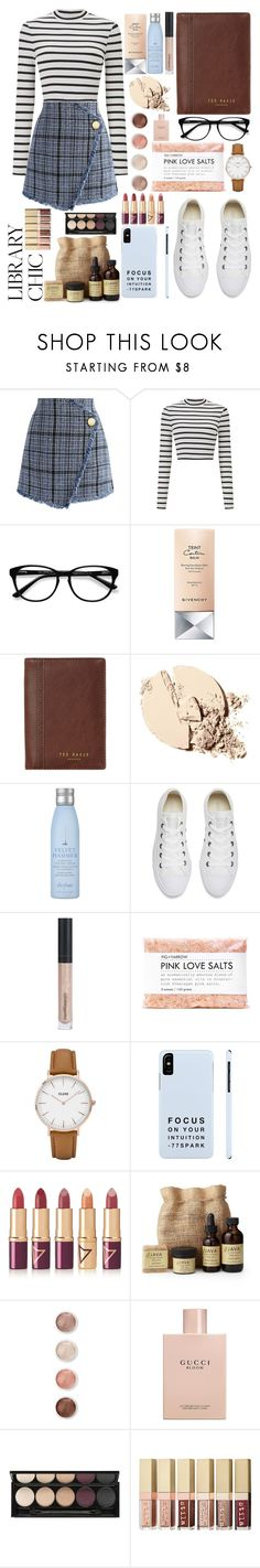 """""""#PolyPresents: Wish List"""" by diathediamond on Polyvore featuring Chicwish, Miss Selfridge, EyeBuyDirect.com, Givenchy, Ted Baker, Drybar, Converse, Bare Escentuals, Fig+Yarrow and CLUSE"""