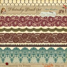 French lace borders for photoshop - graphic design - printable Photoshop Fonts, Photoshop Brushes, Photoshop Elements, Header Banner, Parchment Craft, Lace Patterns, Pattern Ideas, Make Blog, Textiles
