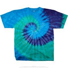 Liquid Blue Cool Spiral Youth Unprinted Tie Die T-Shirt Tee. Tie Dye Shirts, Dye T Shirt, Tee Shirts, Tees, Tie Dye Painting, Kids Tie Dye, Tie Dye Designs, Plus Size T Shirts, Disney Junior