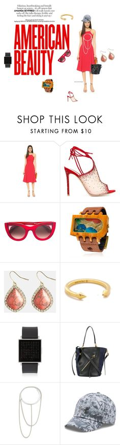 """American Beauty"" by ramakumari ❤ liked on Polyvore featuring Black Halo, Gianvito Rossi, Thierry Lasry, Mistura, Avenue, Vita Fede, QLOCKTWO, Chloé, Maison Margiela and Under Armour"