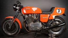 An early Laverda 3C 1000CC café racer, one of the first in the UK.