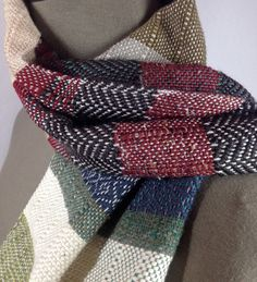 New to pidgepidge on Etsy: Monroe Men's Scarves, Scarf Ideas, Fibre Material, Cozy Scarf, Striped Scarves, Acrylic Wool, Color Stories, Marsala, Bold Colors