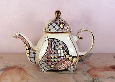 Asian Antiques Faithful Antique Japanese Kutani Teapot Chocolate Porcelain Teiera Giapponese Ceramica
