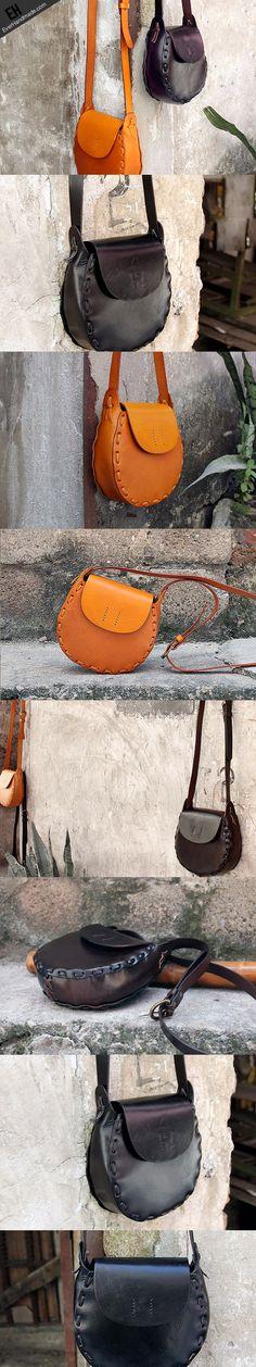Handmade vintage rustic retro leather crossbody Shoulder Bag for girl | EverHandmade