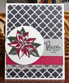 Krystal's Cards: Stampin' Up! Black Friday Peace #stampinup #krystals_cards #reasonfortheseason #onlinestampclass #handstamped #cardmaking