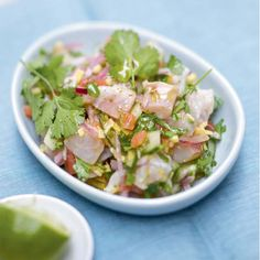Ceviche de daurade royale Cooking Recipes, Healthy Recipes, Entrees, Potato Salad, Clean Eating, Good Food, Appetizers, Fish, Ethnic Recipes