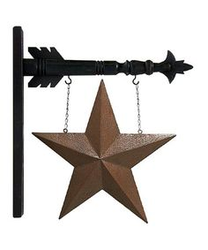 Hanging Tin Star & Arrow #zulily #zulilyfinds