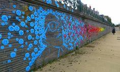street art origami mural, angers france