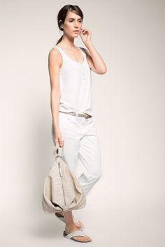 Esprit - Gepflegte Capri aus Baumwolle/Stretch im Online Shop kaufen