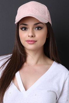 This cute baseball cap features a vegan suede fabrication, curved brim, floral cutout design, and an adjustable velcro strap at back.Measurement Bill measures a Most Beautiful Faces, Beautiful Celebrities, Beautiful Eyes, Simply Beautiful, Beauty Full Girl, Pure Beauty, Beauty Women, Stylish Hats, Stylish Girl