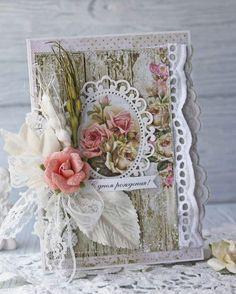 Lemoncraft: Inspirerer Anastasiya: kort i stil shabby - Inspirations fra Anastasiya: lurvede kort