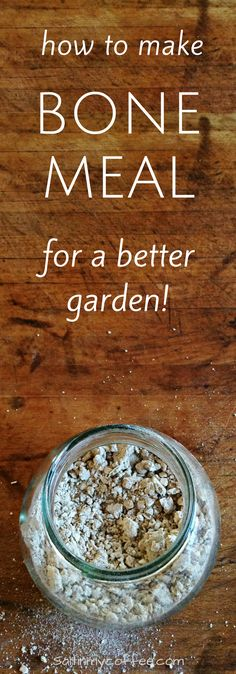 How to make bone meal for better gardens - adds organic phosphorous for more robust root systems!