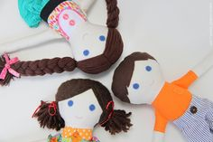 The best sewing pattern and tutorial for a girl and boy doll. FREE! :)