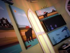 New paintings for the office. #nook #moose