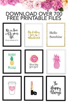 Home diy wall art free printables 59 New Ideas Free Printable Art, Printable Planner, Party Printables, Free Printables, Printable Calendars, Free Planner, Weekly Planner, Free Printable Wedding, Printable Binder Covers Free