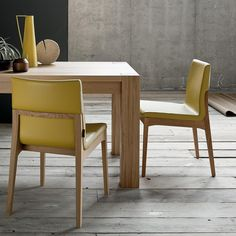 Fixed or extending solid wood dining table Bio by Sedit