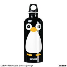 Cute Vector Penguin Water Bottle
