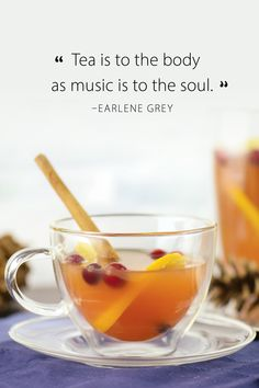 Refresh, energize, clean, balance, revitalize. Tea can do all that. #tea #teaquote #earlenegrey Tea Quotes, Community, Canning, Fruit, Music, Food, Musica, Musik, Essen