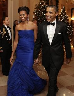 Michelle Obama   Wearing custom Vera Wang at 34th Annual Kennedy Center Honors in Washington, DC.