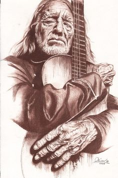 Willie Nelson hand drawn by essenceofus on Etsy. Celebrity Drawings, Celebrity Portraits, Music Drawings, Art Drawings, Horse Drawings, Drawing Art, Willie Nelson, Country Artists, Wildlife Art