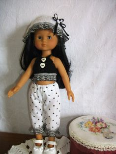 Clothes FOR Little Darling Dianna Effner OU Chéries Corolle Black AND White | eBay